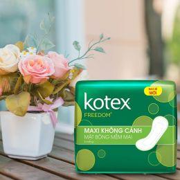 Băng Vệ Sinh Kotex Freedom Maxi Cánh Lốc 8 Gói*8 Miếng