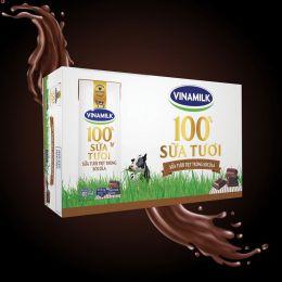 Sữa Tiệt Trùng Vinamilk Hương Socola 180ml*48 Hộp