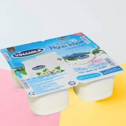 Sữa chua Vinamilk không đường lốc 4 hộp x 100g