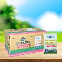 Sữa Dinh Dưỡng Vinamilk Fino Dâu 220ml*48 Gói