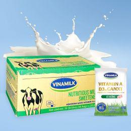 Sữa Tiệt Trùng Vinamilk Có Đường 220ml*48 Gói