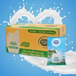 Sữa Tiệt Trùng Dutch Lady Có Đường 220ml*48 Gói