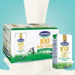 Sữa Tiệt Trùng Vinamilk 100% Có Đường 1l*12 Hộp