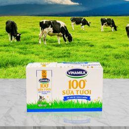 Sữa Tiệt Trùng Vinamilk Ít Đường 180ml*48 Hộp