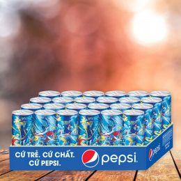 Nước Ngọt Pepsi Cola Sleek 330ml*24 Lon