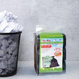 Túi rác tự huỷ sinh học NTS màu đen lốc 3 cuộn 44x56cm