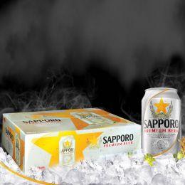 Bia Sapporo Pre Silver 330ml*24 Lon