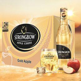 Nước Táo Lên Men Strongbow Sleek Gold 33Cl*24 Lon