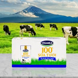 Sữa Tiệt Trùng Vinamilk Ít Đường 110ml*48 Hộp